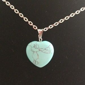 Jewelry - Natural Turquoise Heart Pendant Necklace